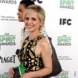 Sarah Michelle Gellar pose lors du photocall des Film Independent Spirits Awards à Los Angeles le 1er mars 2014.
