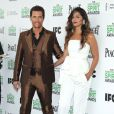 Matthew McConaughey et Camila Alves posent lors du photocall des Film Independent Spirits Awards à Los Angeles le 1er mars 2014.