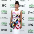 Melonie Diaz pose lors du photocall des Film Independent Spirits Awards à Los Angeles le 1er mars 2014.