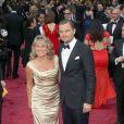 Leonardo DiCaprio et sa mère Irmelin lors de la 86e cérémonie des Oscars, Los Angeles, le 2 mars.