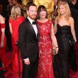 Michael Fassbender et sa mère Adele lors de la 86e cérémonie des Oscars, Los Angeles, le 2 mars.