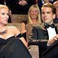 Scarlett Johansson et son petit-ami Romain Dauriac lors du 70e Festival du Film de Venise, le 3 septembre 2013.