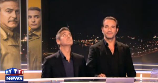 George clooney et jean dujardin miment la descente d for Jean dujardin interview