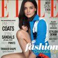 Katie Holmes en couverture de ELLE, version anglaise, datée d'avril 2014.