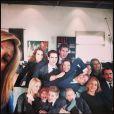 Les enfants du prince Pavlos de Grèce et de la princesse Marie-Chantal font les fous dans ce selfie sur lequel apparaissent l'infante Elena d'Espagne et sa nouvelle coiffure (en haut à gauche) et l'infante Cristina (en bas à droite, avec Nikolaos), pris par la princesse Marie-Chantal le jour de la cérémonie organisée à la nécropole royale du domaine Tatoï, au nord d'Athènes, le 6 mars 2014 pour commémorer les 50 ans de la mort du roi Paul Ier de Grèce.