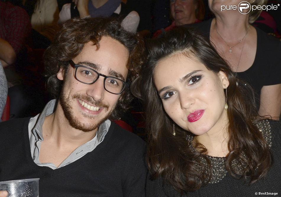 Thomas Hollande et Joyce Jonathan au concert de Céline Dion au Palais Omnisport de Paris Bercy de Paris, le 29 novembre 2013.