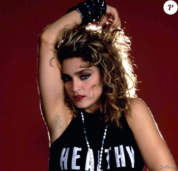 """Madonna en 1985, pour la promotion de son film """"Recherche Susan désespérément""""."""