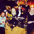 Madonna en studio avec le DJ suédois Avicii, au boulot sur son nouvel album. À New York, mars 2014.
