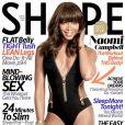 Naomi Campbell, en couverture du magazine Shape. Avril 2014.