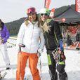 Barbara Merlin et Daniela Ceccarelli lors de l'événement World Stars Ski au profit de Star Team for Children, association fondée par le prince Albert II de Monaco, le 22 mars 2014 à Seefeld in Tyrol, en Autriche.