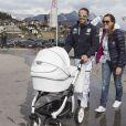 Peter Fill et sa femme Manuela à l'événement World Stars Ski au profit de Star Team for Children, association fondée par le prince Albert II de Monaco, le 22 mars 2014 à Seefeld in Tyrol, en Autriche.