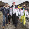 Le prince Albert II de Monaco arrivant lors de l'événement World Stars Ski au profit de Star Team for Children, association fondée par le prince Albert II de Monaco, le 22 mars 2014 à Seefeld in Tyrol, en Autriche.