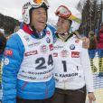 Peter Schrocksnadel et Denise Karbon lors de l'événement World Stars Ski au profit de Star Team for Children, association fondée par le prince Albert II de Monaco, le 22 mars 2014 à Seefeld in Tyrol, en Autriche.