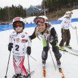 Daniela Ceccarelli lors de l'événement World Stars Ski au profit de Star Team for Children, association fondée par le prince Albert II de Monaco, le 22 mars 2014 à Seefeld in Tyrol, en Autriche.