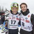Christof Innerhofer et le prince Emmanuel-Philibert de Savoie, deux copains lors de l'événement World Stars Ski au profit de Star Team for Children, association fondée par le prince Albert II de Monaco, le 22 mars 2014 à Seefeld in Tyrol, en Autriche.