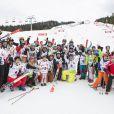 Les participants de l'événement World Stars Ski au profit de Star Team for Children, association fondée par le prince Albert II de Monaco, le 22 mars 2014 à Seefeld in Tyrol, en Autriche.