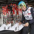 Christof Innerhofer en dédicaces lors de l'événement World Stars Ski au profit de Star Team for Children, association fondée par le prince Albert II de Monaco, le 22 mars 2014 à Seefeld in Tyrol, en Autriche.