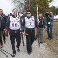 Léopold de Bavière et Albert de Monaco lors de l'événement World Stars Ski au profit de Star Team for Children, association fondée par le prince Albert II de Monaco, le 22 mars 2014 à Seefeld in Tyrol, en Autriche.