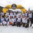 Les athlètes lors de l'événement World Stars Ski au profit de Star Team for Children, association fondée par le prince Albert II de Monaco, le 22 mars 2014 à Seefeld in Tyrol, en Autriche.