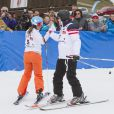Le prince Albert II de Monaco lors de l'épreuve de slalom de l'événement World Stars Ski au profit de Star Team for Children, association fondée par le prince Albert II de Monaco, le 22 mars 2014 à Seefeld in Tyrol, en Autriche.