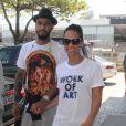 Alicia Keys en compagnie de son mari Swizz Beatz se rendent à l'aéroport de Rio pour prendre un vol pour Sao Paulo, le 12 septembre 2013.