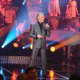 """Herbert Léonard - Enregistrement de l'émission """"Les années bonheur"""" à Paris le 11 mars 2014. L'émission sera diffusée le 12 avril."""