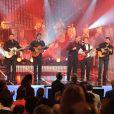 """Chico & les Gypsies - Enregistrement de l'émission """"Les années bonheur"""" à Paris le 11 mars 2014. L'émission sera diffusée le 12 avril."""