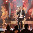 """Le chanteur Yannick - Enregistrement de l'émission """"Les années bonheur"""" à Paris le 11 mars 2014. L'émission sera diffusée le 12 avril."""