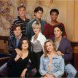 Andrew Shue, Courtney Thorne-Smith, Daphne Zuniga, Doug Savant et Grant Show pour la promo de Melrose Place