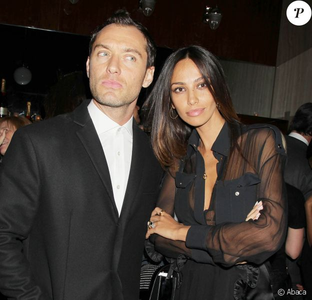Jude Law et Madalina Ghenea lors de l'after-party de Dom Hemingway à New York, le 27 mars 2014.