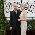 Ben Foster et sa fiancée Robin Wright lors des Golden Globes 2014
