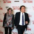 Bernard Tapie et sa fille Sophie à l'avant-première du film Salaud on t'aime à l'UGC Normandie sur les Champs-Elysées, Paris, le 31 mars 2014.