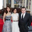 """Carice Van Houten, Sibel Kekilli et John Bradley à l'avant-première de la saison 4 de """"Game of Thrones"""" à New York, le 18 mars 2014."""