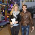 """David Lantin et son amie - Soirée d'ouverture de la """"Foire du Trone"""" au profit de l'association Petits Princes à Paris le 4 avril 2014."""