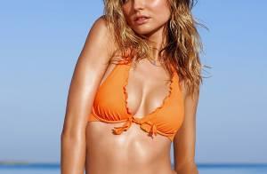 Magdalena Frackowiak : Ventre plat et bikinis colorés pour la bombe à la plage