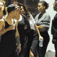 Justin Bieber enregistre un nouvel opus dans les studios Hit Factory en compagnie de la jeune Madison Beer à Miami, le mardi 8 avril 2014.
