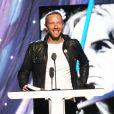 Le chanteur Chris Martin - Concert d'intronisation au Rock and Roll Hall of Fame, à New York le 10 avril 2014.