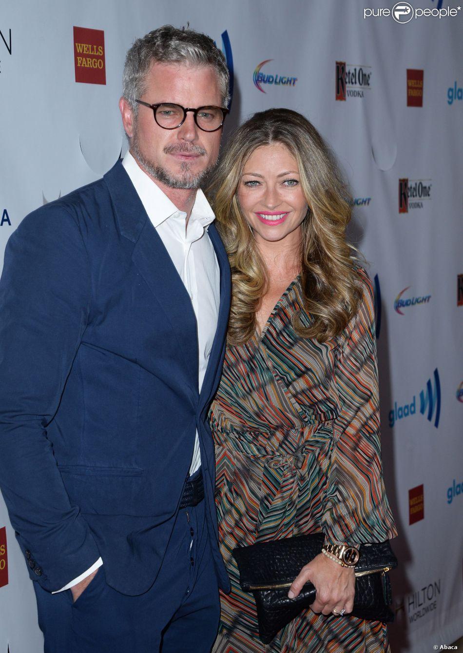 Eric Dane and Rebecca Gayheart lors des 25e GLAAD Media Awards, le 12 ...