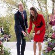 Le prince William et Kate Middleton ont inauguré l'espace visiteurs des Jardins botaniques de Christchurch, le 14 avril 2014 au 8e jour de leur tournée en Nouvelle-Zélande.