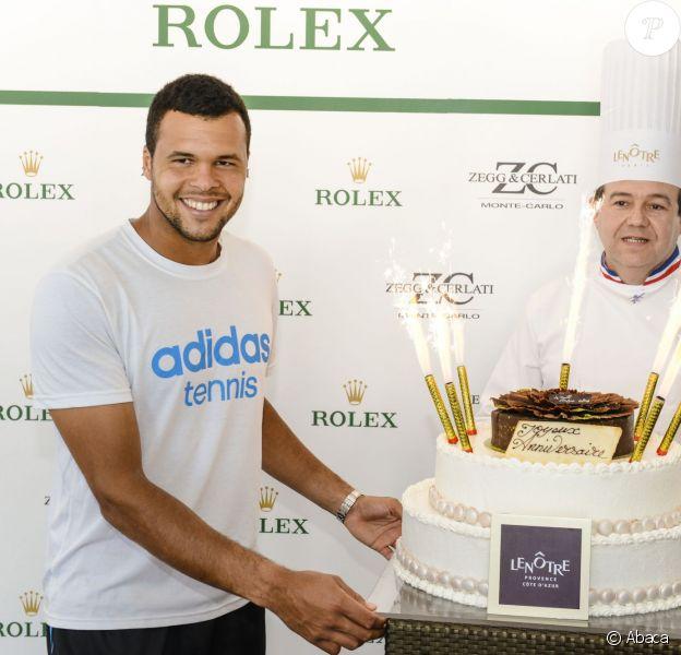 Jo-Wilfried Tsonga célèbre son 29e anniversaire le 17 avril dans les salons Rolex du Masters 1 000 de Monte-Carlo