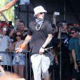 Justin Bieber fait une apparition surprise lors du Festival de musique de Coachella, le 13 avril 2014. Justin Bieber est monté sur scène avec Chance The Rapper (Chancelor Bennett).