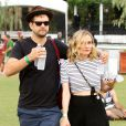 Joshua Jackson et Diane Kruger assistent aux concerts du 2e week-end du Festival de musique de Coachella à Indio (Californie), le 18 avril 2014.