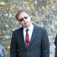 """Matthew Freud aux obsèques de Peaches Geldof, décédée à l'âge de 25 ans, en l'église de """"St Mary Magdalene and St Lawrence"""" dans le village de Davington en Angleterre, le 21 avril 2014."""