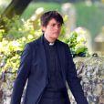 """Le prêtre Tracey Bateson aux obsèques de Peaches Geldof, décédée à l'âge de 25 ans, en l'église de """"St Mary Magdalene and St Lawrence"""" dans le village de Davington en Angleterre, le 21 avril 2014."""
