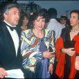 Domnique Strauss-Kahn, sa fille Vanessa et Anne Sinclair au Festival de Cannes, en mai 1991.