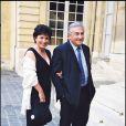 Domnique Strauss-Kahn et Anne Sinclair à l'Elysée, le 29 juillet 1999.