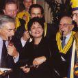 Domnique Strauss-Kahn et Anne Sinclair à Paris le 12 octobre 1999.