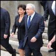 Dominique Strauss-Kahn et Anne Sinclair quittant le tribunal de Manhattan. DSK vient d'y plaider non coupable. Le 6 juin 2011.