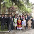 Le roi Juan Carlos Ier d'Espagne et la reine Sofia étaient le 23 avril 2014 à l'Université de Alcala de Henares pour remettre à l'auteure Elena Poniatowska le prix Cervantes 2013.