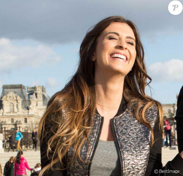 Exclusif - Rencontre avec Martika et Louise (Bachelor 2014) dans un jardin à Paris, le 11 mars 2014.
